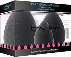 EmaxDesign 3 pièces Blender éponge de maquillage, fond de teint Blush Estompeur Correcteur Yeux Visage Poudre Crème...