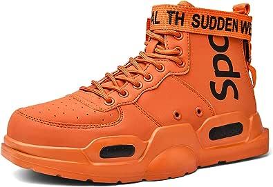 SANNAX Scarpe Alte da Uomo Scarpe da Ginnastica alla Moda Sneakers Scarpe da Corsa Leggere da Passeggio Casual Stile Libero Sportive Stivali da Ginnastica Stivale per Palestra Fare Jogging Allenarsi