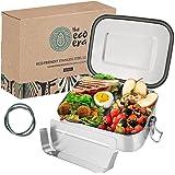 Edelstahl Brotdose & Lunchbox, auslaufsichere umweltfreundliche Eco Bento Box, plastikfrei mit flexiblen Fächern, Verschlussc