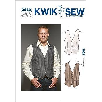 9729a1c0eaee97 KWIK-SEW PATTERNS KWIK - SEW PATTERNS K3662 Size Small - Medium - Large -  Extra-Large - XXL Vests