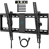 Soporte TV de Pared Inclinado - Soporte TV para TVs Planos y curvos de 37-70 Pulgadas de hasta 60 kg, VESA Máximo 600x400 mm