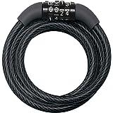 Master Lock Fietskabelslot [Combinatie] [1,2 m Oprolkabel] [Buiten] 8143EURDPRO - voor (Elektrische) fietsen, Skateboards, Ki
