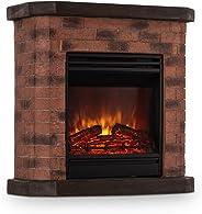 KLARSTEIN Elektrischer Kamin - Elektro-Kamin, Kamin elektrisch, 1800 Watt, Flammeneffekt, Steindekor, Polystone, Fernbedienu