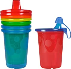 The First Years Take and Toss No Spill Cups with Travel Cap (Pack of 4, Multicolor)