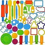 JOYIN 44 pezzi Kit di Strumenti per Plastilina e Argilla Pongo per Bambini con Formine Assortite Dido per Plastilina Stampi A