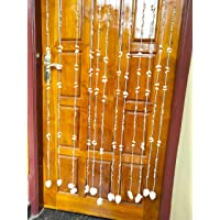Vaibhav VOS Handmade Door Long Hanging Decoration-Handicraft Sea Shell (Standard Size, Multicolour) -12 Nos
