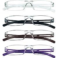4 paires de lunettes de lecture, lunettes de blocage de lumière bleue, lunettes de lecture d'ordinateur pour femmes et…