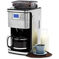 Andrew James Bean to Cup Coffee Machine Filter Coffee Maker with Grinder | Anti-Drip 1.5L Carafe with Timer & Keep Warm…