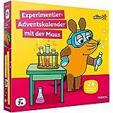 FRANZIS 67185 - Experimentier-Adventskalender 2021 mit der Maus, 24 Experimente zum Staunen, Lachen und Rätseln, für Kinder a