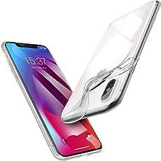 vau iPhone XS Max Hülle Case SoftGrip Silikon Handyhülle dünn durchsichtig transparent (für Apple Phone 10s Plus 6.5 OLED 2018)