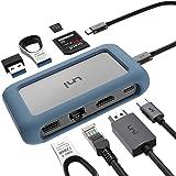 uni Hub USB C 8 in 1, USB C Hub con connettore Rimovibile e Custodia in Silicone, Supporta Ricarica da 100 W, 4K HDMI e Altro