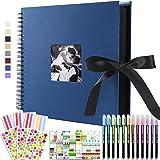 Vienrose Álbum de fotos Scrapbook 10x15 Para Pegar y Escribir 80 Negra páginas DIY Regalos de Boda Aniversario Bebé Cumpleano
