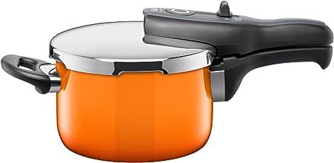 Silit Sicomatic t-plus Schnellkochtopf 2,5l ohne Einsatz Ø 18cm orange Passion Orange Made in Germany Innenskalierung Silargan Funktionskeramik induktionsgeeignet