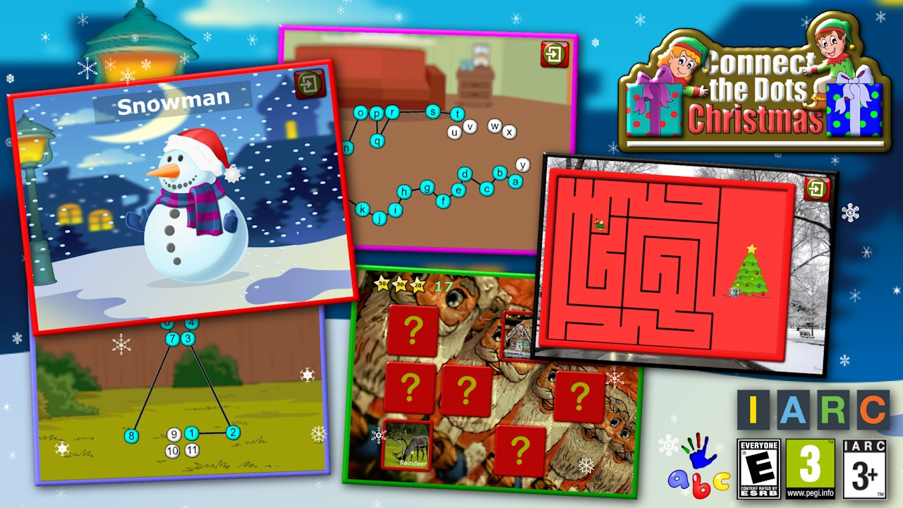 Kids Christmas Connect The Dots Puzzles