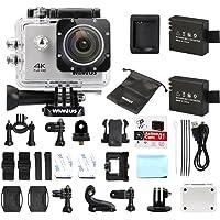 WiMiUS Action Cam, caméra d'action Sportive 4K HD WiFi 16MP Caméra sous-Marine étanche 30M Grand Angle 170 ° avec kit d…