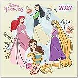 Calendario 2021 da Muro Princess Classics, calendario 2021 Disney, 12 mesi, include poster regalo, 30x30 cm