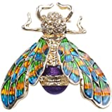 TOOGOO Fashionable Bumble Bee Crystal Brooch Pin Costume Badge Party Jewelry Gift Colorful Bees