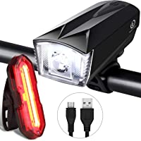 iTechole Bike Light Set, Rechargeable Bicycle Lights with 300LM Waterproof Front Headlight and 100LM Tail Light,...