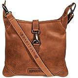 Hill Burry Damen Shopper | aus weichem hochwertigem Rindsleder - Vintage Elegante Fashion Bag Beutel | Umhängetaschen Schulte