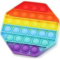 Push Pop Anti-Stress Spielzeug, Fidget Toy für Kinder und Erwachsene, Dino Einhorn Gadget Bubble Sensory Toy, Achteck