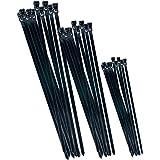 CON: P B20451 Återanvändbara Kabelband, Svart, 75 Stycken