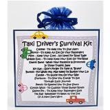 Taxi Driver's Survival Kit - Fun Novelty Gift & Card Alternative/Birthday/ Keepsake/Thank You Gift