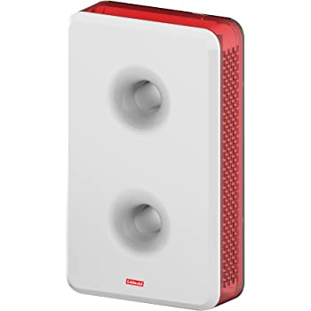 Goldmedal Curve Plus 203052 Plastic Woofer Stereophonic Ding Dong Door Bell (White and Red)