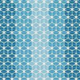 (7,49€/m) Weichschaummatte Antirutschmatte Badezimmermatte Sicherheit Badvorleger Badezimmer WC Meterware - Küche 65cm breite | Farbe : Blautöne Muster Cube blau 4005-1