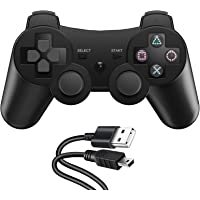 Zexrow Wireless Controller für PS3, Wireless Controller Double Shock Gaming Controller 6-Achsen Bluetooth Gamepad…