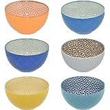 CREOFANT Lot de 6 bols à céréales multicolores - Bol à fruits, bol à soupe, bol à glace, bol à ramenbowl - Bol coloré en céra