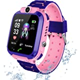 PTHTECHUS Vattentät smartklocka för barn – pekskärm barn smartwatch, samtal röstchatt SOS digitalkamera väckarklocka, present