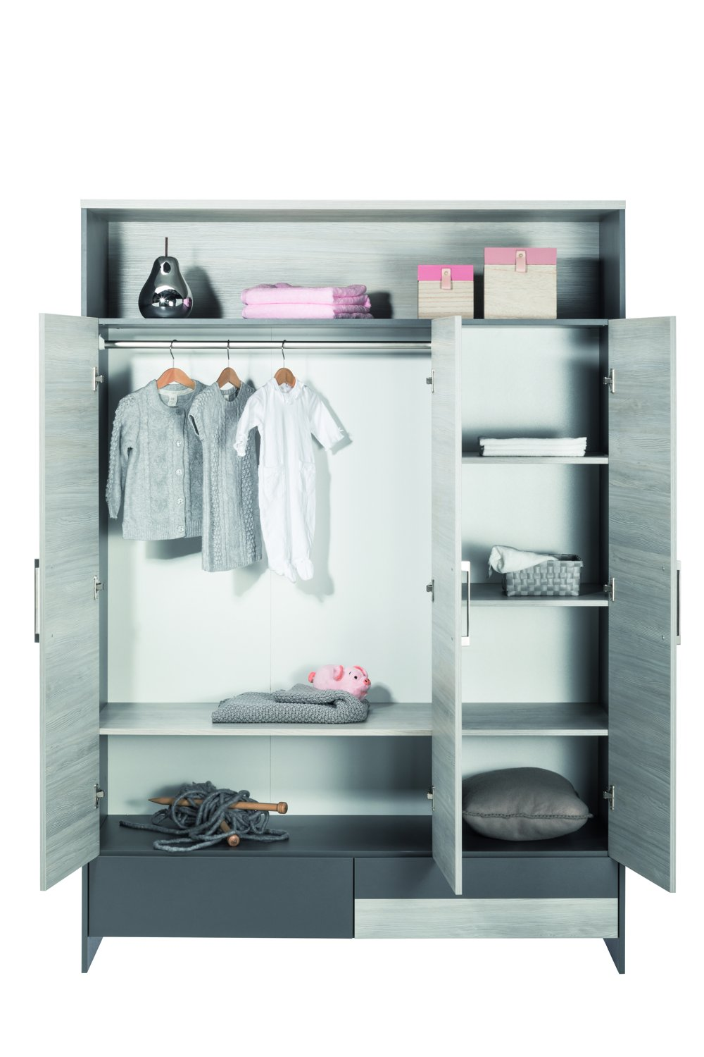 Schardt 06 951 23 Cupboard with 3 Doors, Highlight Grey  GEORG SCHARDT KG - DROPSHIP
