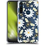 Head Case Designs Bees Watercolour Insects Soft Gel Case and Matching Wallpaper Compatible With Motorola Moto G8 Power