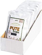 naftie Bio Hundefutter PUTE to Mix Nassfutter 100% Puten-Fleisch Ergänzungsfutter für Hunde glutenfrei getreidefrei