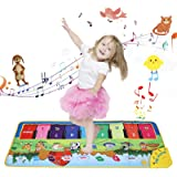 YUNKE Kids Piano Mat, Multi-Functional Floor Musical Playmat, Electronic Music Animal Touch Play Blanket Toys for Kids…