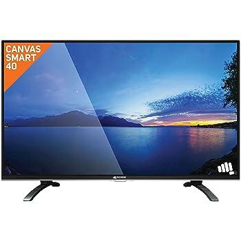 Micromax 101.6 cm (40 Inches) Full HD LED Smart TV Canvas S-40 (Black) (2016 model)