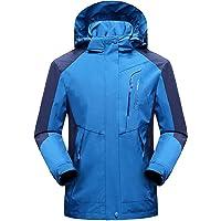 SUKUTU Men's Softshell Outdoor Waterproof Jacket Windproof Lightweigt Hiking Jacket Mountain Camping Hooded Coat