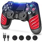 Zcity Mando PS4, Mando Inalámbrico para Playstation 4, Controlador Inalámbrico Gamepad Doble Vibración para Playstion 4, Blue