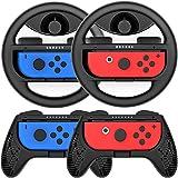 COODIO Volanti e Grip Joy-Con per Nintendo Switch, Volante Joy-Con / Joystick Hand Grip per Mario Kart / Controller Nintendo