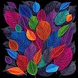 Pitaara Box Dark Autumn Leaves Canvas Painting MDF Frame 28 X 28Inch