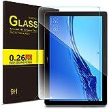ELTD Verre Trempé Protection écran pour Huawei MediaPad T5 10, Dureté 9H, 2.5D Bords Arrondis Film pour Huawei T5 10 10.1 Pouce 2018,(1-Pack)