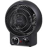 Aigostar Airwin Black 33IEL - Chauffage soufflant, radiateur et ventilateur de 2000W avec régulateur de température et de puissance. Protection contre la surchauffe. Couleur noir. Design exclusif.