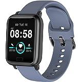 Asmoda Smart Watch Health & Fitness Tracker Watch, IP67 Waterproof Smartwatch with Heart Rate and Sleep Monitor, Pedometer Wa