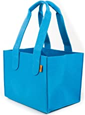 stil-macher Premium Filztasche Design Einkaufstasche |Shopper | Kaminholztasche | Einkaufskorb aus Hochwertigem und Robustem Filz | Größe L (40x30x32cm)