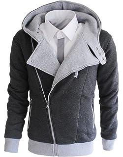 Garcia Pescara Designer Kapuzenpullover Sweatjacke S Grau