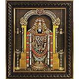 Dalvkot Lord Tirupati Balaji/Venkateswara Swamy Photo Frame for Pooja Room (11.5 X 14.5 Inch)