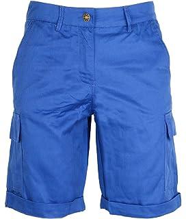 Fresh Made Bermuda Estivi da Donna Pantaloncini Basic in Cotone Bianco XL Pantaloni Chino Corti con Cintura Intrecciata
