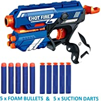 Toyshine Foam Blaster Gun Toy, Safe and Long Range, 10 Bullets