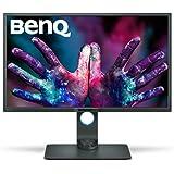 BenQ PD3200Q Écran Designer 32 pouces, 2560x1440 2K QHD, 100% Rec.709, sRGB, Modes CAO / FAO,  Animation, Chambre noire, KVM, Télécommande de raccourcis, DualView, Low Blue Light, Flicker-free