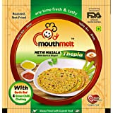 Mouthmelt Methi Masala Soft Thepla (Ready to Eat,Rosted, Not Fried) (with Garlic & Jinger) Each Packet Contain 200G (4 Packet
